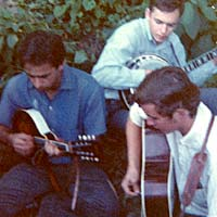 Roland White, Butch Robins, Fred Bartenstein.  Watermelon Park, Berryville, VA. 1968 (Photo: Ken Landreth)