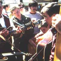 Tut Taylor, Hughie Wylie, Darryl Wolfe, Mitch Wolfe, Fred Bartenstein. Union Grove, NC Fiddler's Convention 1968