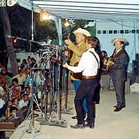 Fred with Bill Monroe and Ralph Stanley