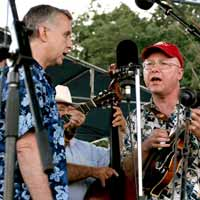 Fred Bartenstein and Phil Zimmerman at 40th Reunion of 1st Bluegrass Festival, Fincastle, VA, 2005
